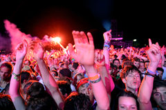 Crowd in a concert at FIB Festival Royalty Free Stock Photo