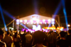 Crowd at concert in front of stage Royalty Free Stock Photography