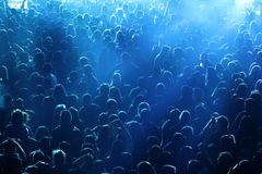 Crowd at concert or party Stock Photos