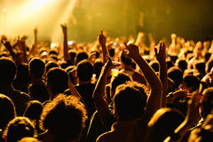 Crowd in a concert at Razzmatazz stage Stock Photography