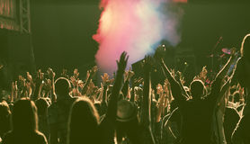 Crowd at concert Stock Photos