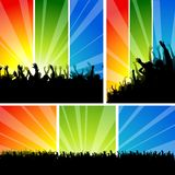 Crowd at the Concert Set Royalty Free Stock Photos