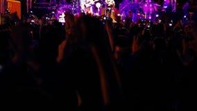 Crowd_concert_singer (blured的阶段) 股票视频