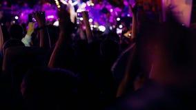 Crowd_concert_singer ( stage blured ) stock footage