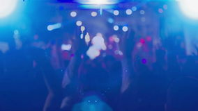 Crowd_concert_singer ( stage blured ) stock video