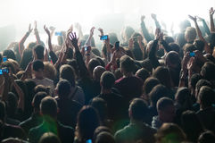 Crowd during a concert Royalty Free Stock Photography