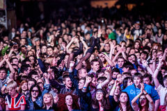 Crowd at a concert Stock Images