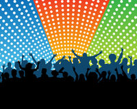 Crowd at a concert Royalty Free Stock Images