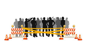 Crowd cross line Royalty Free Stock Photos