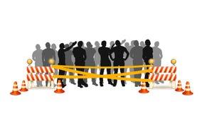Crowd cross line royalty free illustration