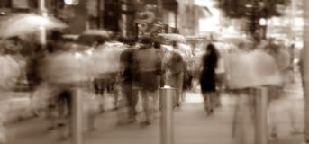Crowd Crossing Street Stock Images