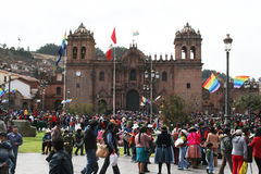 Crowd in cusco Royalty Free Stock Image