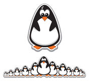 Crowd of Cute Penguins Stock Image