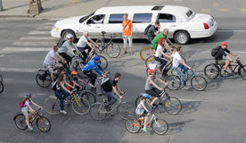 Crowd of cyclists