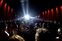 Crowd dance in a concert at Sonar Festival Royalty Free Stock Photos