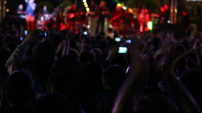 Crowd dancing on the concert (new series +10) stock video footage