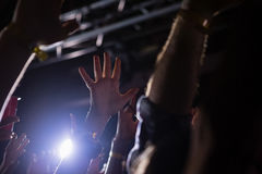 Crowd dancing at a rock concert Stock Photography