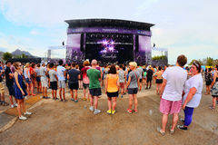Crowd in a daylight concert at FIB Festival Royalty Free Stock Photo