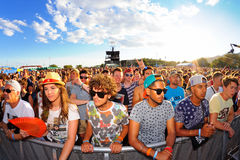 Crowd in a daylight concert at FIB Festival Stock Photos