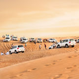 Crowd in the desert. Stock Images