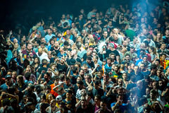 Crowd at the discotheque Royalty Free Stock Photography