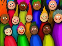 Crowd of Diverse People Royalty Free Stock Photo