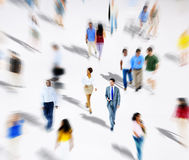 Crowd Diverse People Walking  Concept Stock Images
