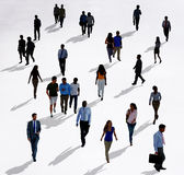 Crowd Diverse People Walking Isolated Concept Stock Photography