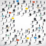 Crowd Diversity People Community Communication Talking Concept Stock Photography