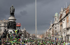 Crowd in Dublin on St. Patrick's Day Stock Image