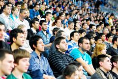 Crowd of Efes supporters Royalty Free Stock Images