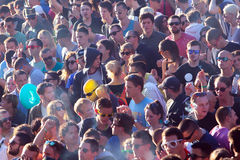 Crowd enjoying concert on Exit festival Royalty Free Stock Images