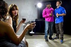 Crowd Enjoying Drinks at Nightclub Royalty Free Stock Images