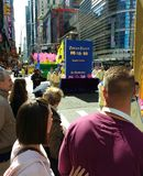 Crowd Enjoys a Parade in New York City, NYC, NY, USA Royalty Free Stock Photo