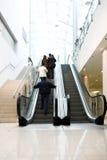 Crowd on escalator Royalty Free Stock Photo