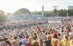 Crowd at Estonian National Song Festival in Tallin Royalty Free Stock Photos
