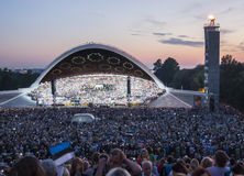 Crowd at Estonian National Song Festival in Tallinn Royalty Free Stock Image