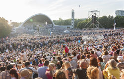 Crowd at Estonian National Song Festival in Tallinn Royalty Free Stock Images