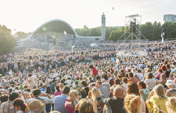 Crowd at Estonian National Song Festival in Tallinn Stock Image