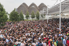 Crowd at Expo 2015 in Milan, Italy Royalty Free Stock Photography