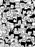 Crowd faces. The background of crowd faces Royalty Free Stock Images