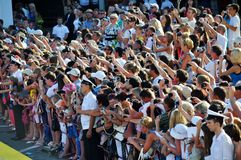 The crowd of fans Stock Photo