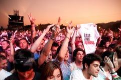 Crowd (fans) at FIB (Festival Internacional de Benicassim) 2013 Festival Stock Photos