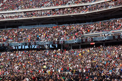 Crowd of fans in stands at Wrestlemania 31 Stock Image