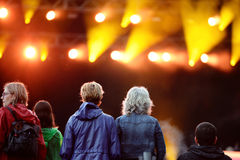 Crowd (fans) watching a concert at Heineken Primavera Sound 2014 Festival Royalty Free Stock Photography