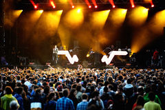 Crowd (fans) watching a concert at Heineken Primavera Sound 2014 Festival Royalty Free Stock Photo