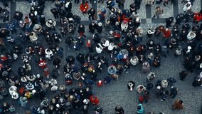 Crowd with fast motion effect. stock footage