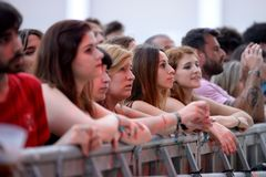 The crowd at Festival de les Arts Royalty Free Stock Photo