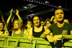The crowd at Festival de les Arts Stock Photography