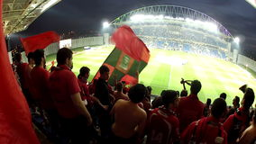 Crowd at football stadium stock footage